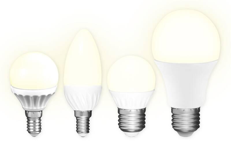 3er Set LED Lampen - 5,5 Watt, E27, Glühlampenform, warmweiß, 470 lm