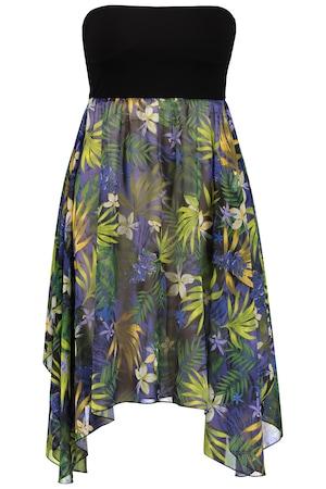 Große Größen 2-in-1-Kleid auch als Rock Damen (Größe 58 60, Kurze Kleider | Viskose/Elasthan