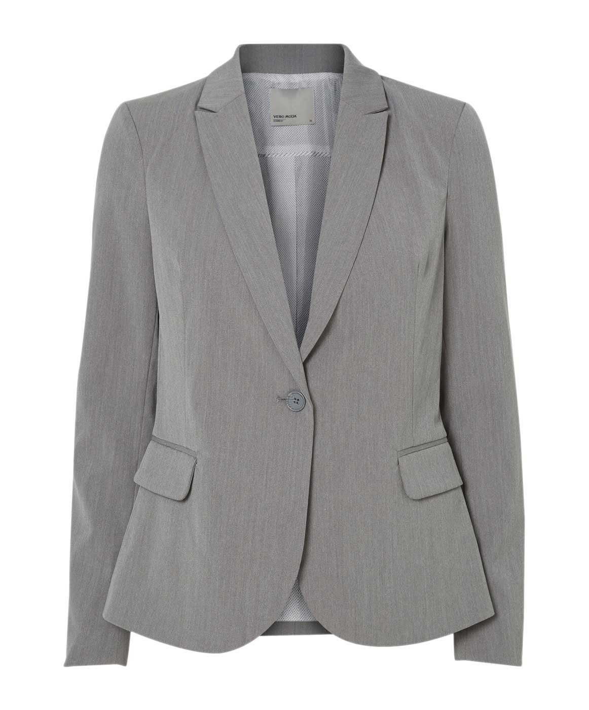 Vero Moda Blazer Regular Fit Roro Blazer in Grey Melange