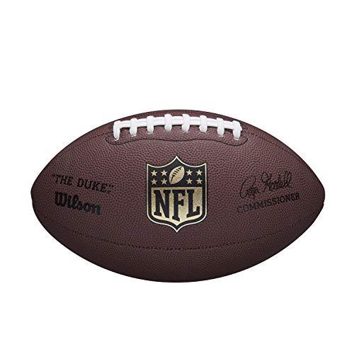 Wilson WTF1825XB NFL Duke Replica Composite Fußball, Braun