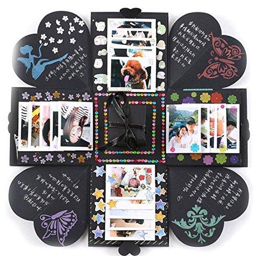 KUNSE Kreative DIY-Manuelle Explosion Box Speicher Scrapbook Album Craft Kits Fotogeschenke