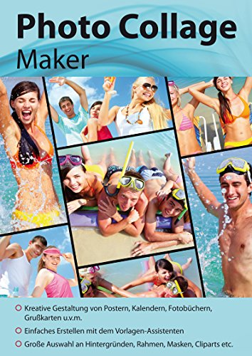 Photo Collage Maker - Gestaltung von Etiketten, Postern, Kalender, Fotobücher, Grußkarten - ideale Bildbearbeitung für Windows 10, 8.1, 8, 7, Vista