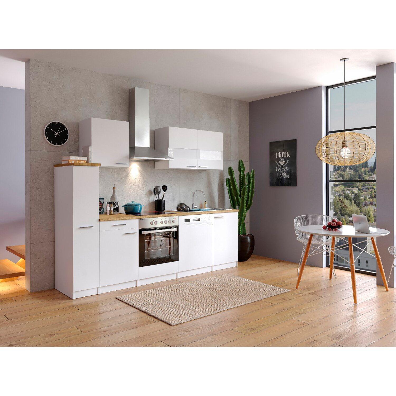 Respekta Küchenzeile KB250WWC 250 cm Weiß