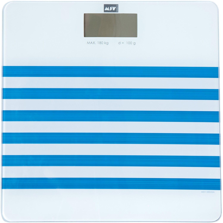 Personenwaage Blau 30 cm x 30 cm