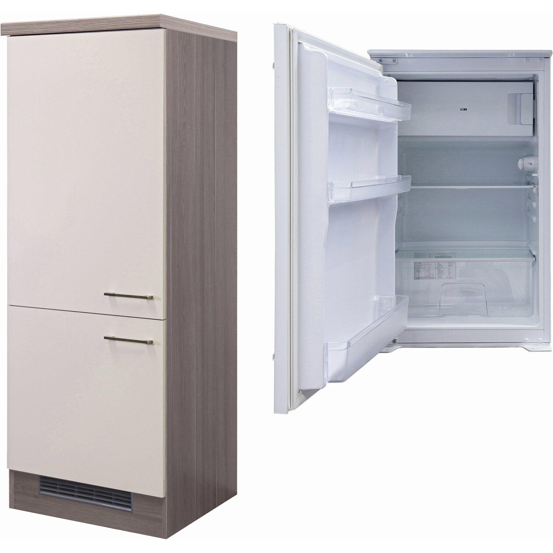 Flex-Well Exclusiv Kühlschrank-Umbau Eico mit Kühlschrank PKM KS 120.4A+ EB