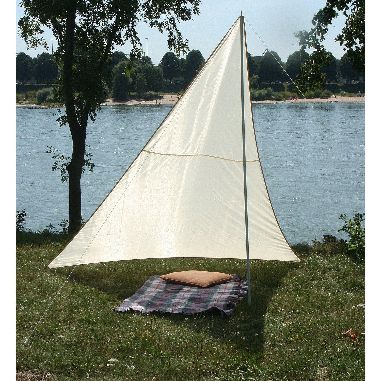 Floracord Camping Dreieckssonnensegel Sand 300 cm x 300 cm x 250 cm