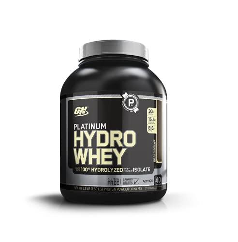Optimum Nutrition ON Hydro Whey Protein Isolat Pulver, Eiweißpulver Reich an BCAA, Milk Chocolate, 40 Portionen, 1,6 kg, Verpackung kann variieren