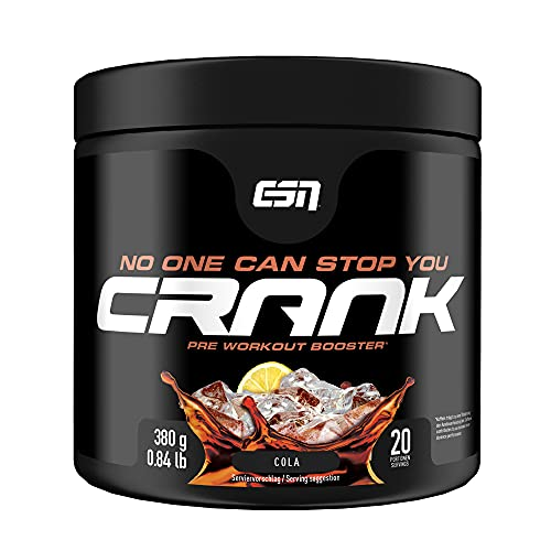 ESN Crank, Cola, 380g, kompletter Pre Workout Booster
