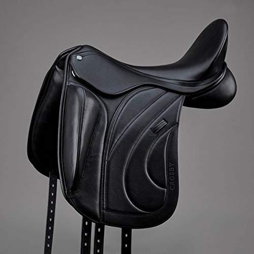 Crosby Dressursattel mit externer Kniestütze, 44,5 cm, Schwarz
