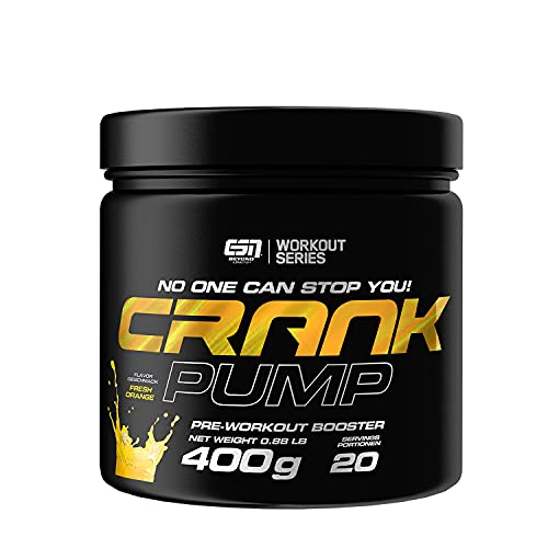 ESN Crank Pump, Fresh Orange, 400g, Pre Workout Booster