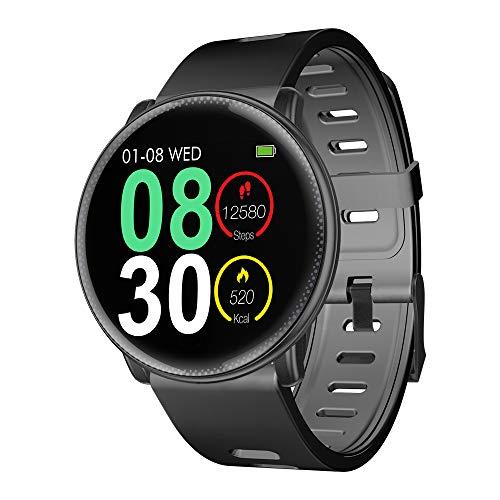 Smartwatch, UMIDIGI Uwatch2 Fitness Tracker Sport Ambanduhr Smart Watch mit Facebook, Twitter, Whatsapp, Skype-Benachrichtigung kompatibles IOS und Android für Herren Damen(2 Uhrenarmbändern), Schwarz