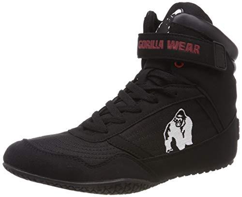 Gorilla Wear High Tops Black schwarz - Bodybuilding und Fitness Schuhe für Damen und Herren, 41
