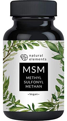 MSM Kapseln - 365 vegane Kapseln - Laborgeprüft - 1600mg Methylsulfonylmethan (MSM) Pulver pro Tagesdosis - Ohne Magnesiumstearat, hochdosiert