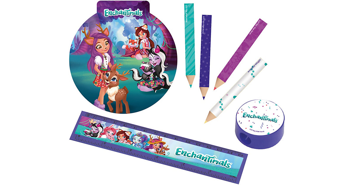 Schreibwaren-Set Enchantimals, 16-teilig