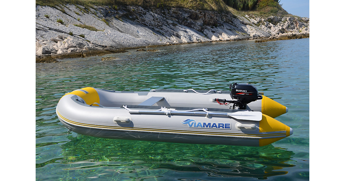 Schlauchboot VIAMARE 330 S Airdeck grau/gelb