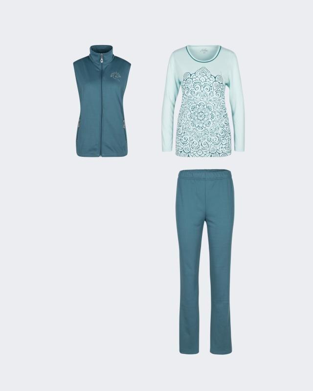 Joliena Collection Hausanzug mit Weste und Shirt