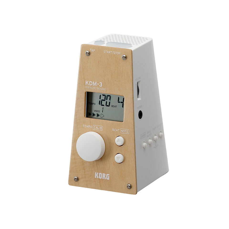 Korg KDM-3 Wooden White Digital Metronome Limited Edition Metronom