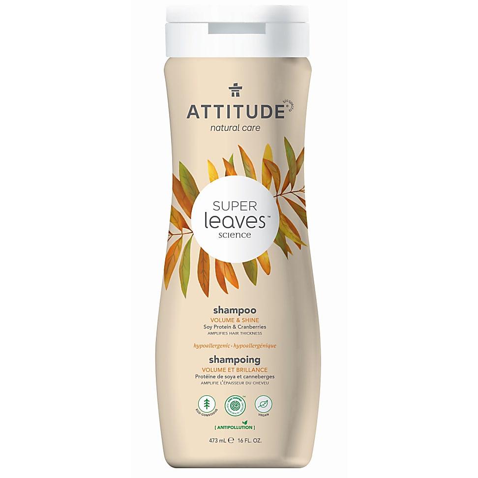 Attitude Super Leaves Natural Shampoo Volume & Shine - Volumen & Gl...