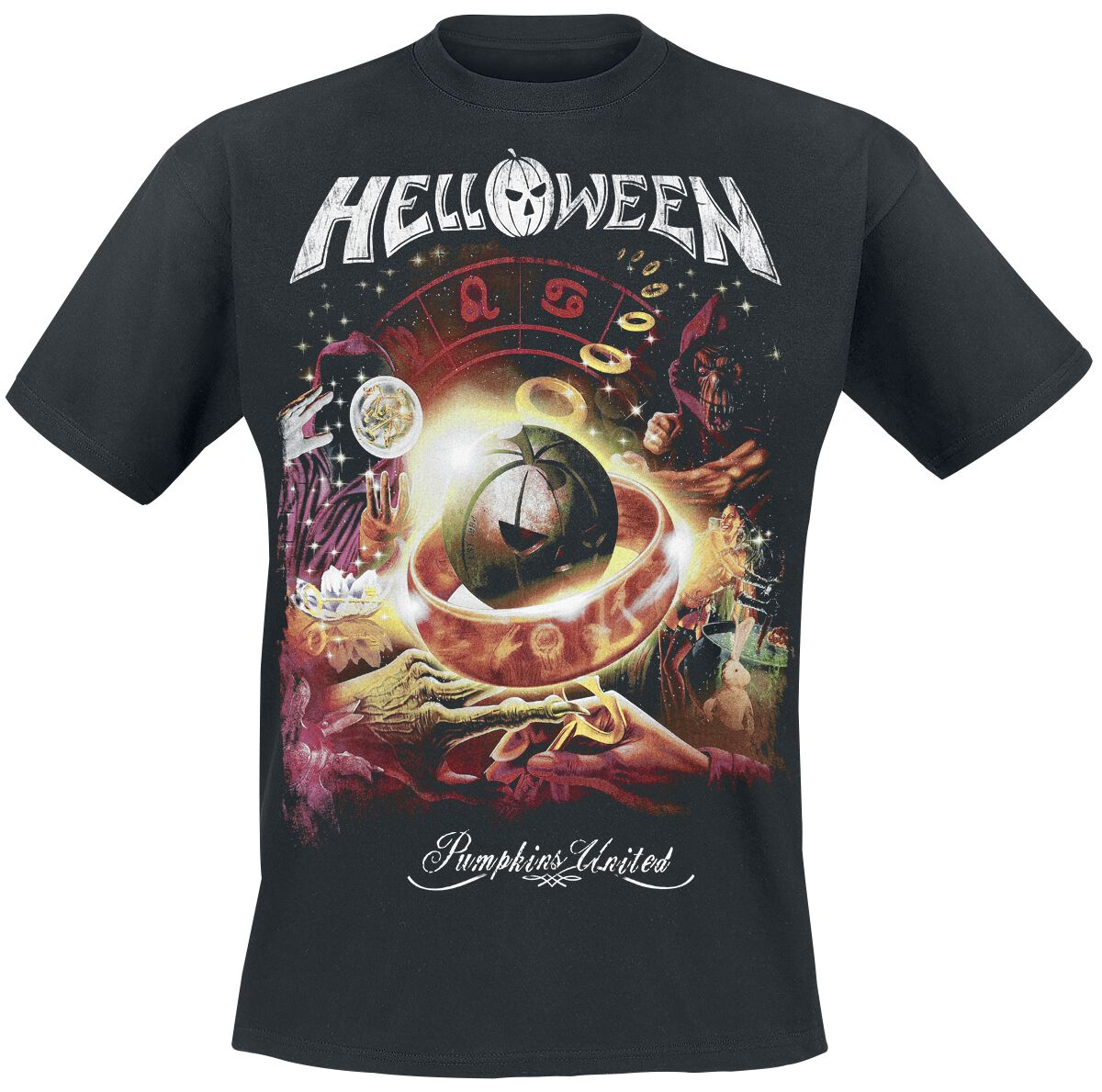 Helloween  Tour Collage  T-Shirt  schwarz