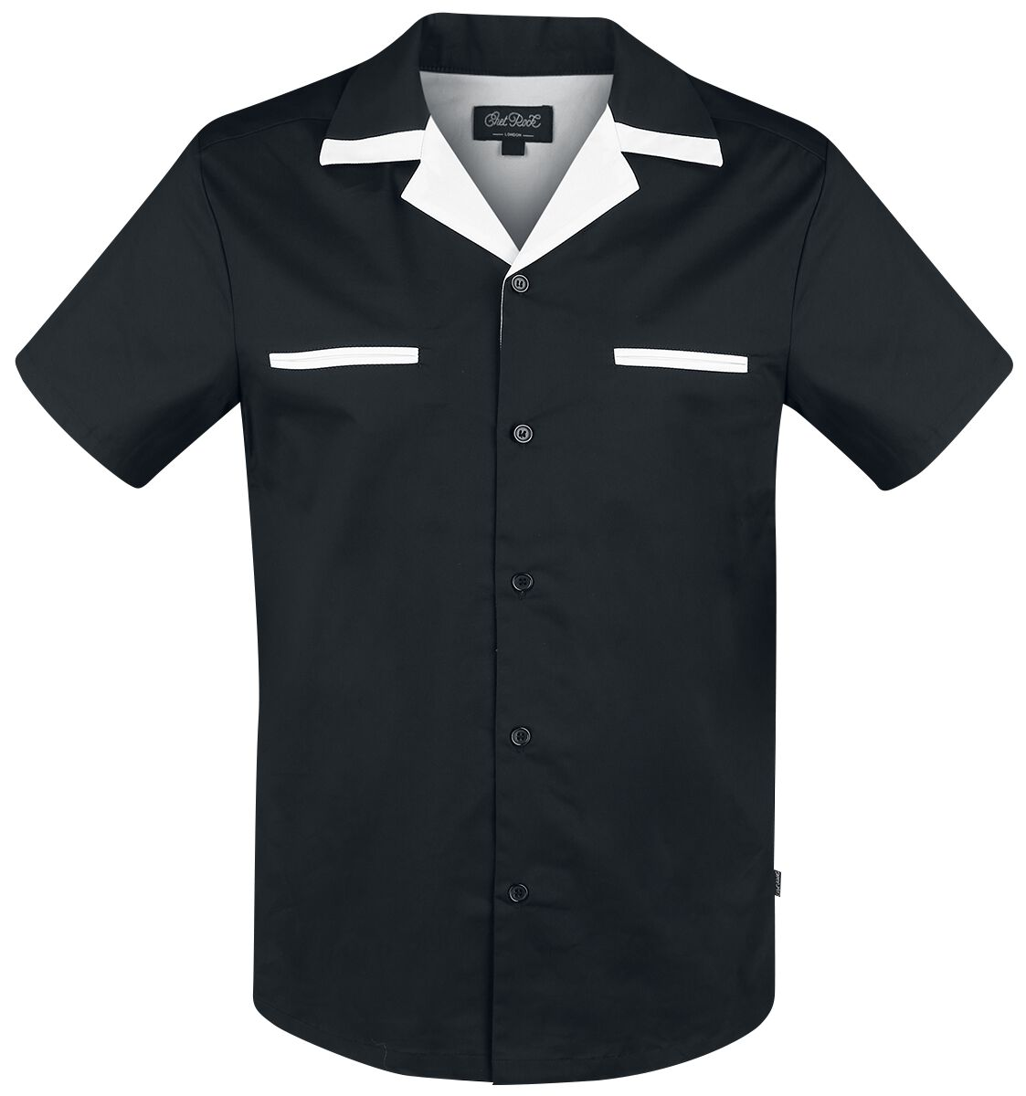 Chet Rock  Donnie Bowling Shirt  Hemd  schwarz