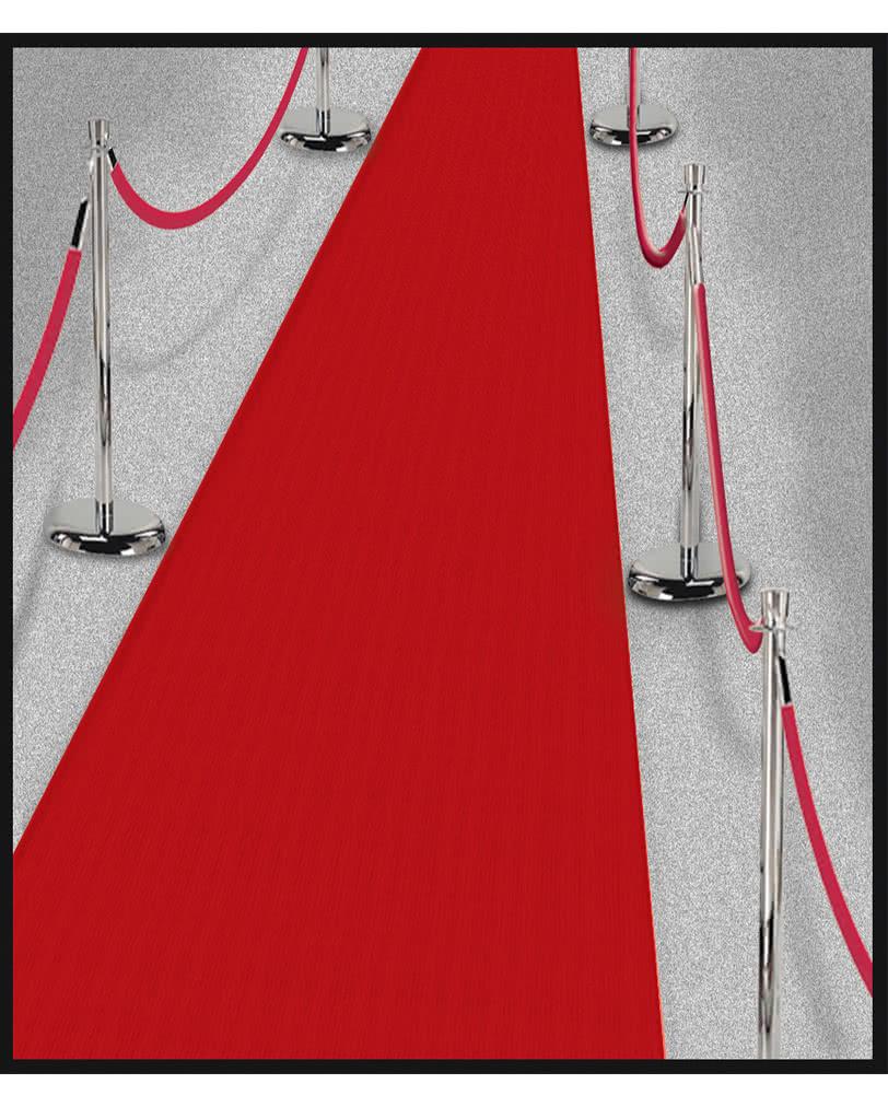 Hollywood-Läufer Roter Teppich für die Filmstar Mottoparty