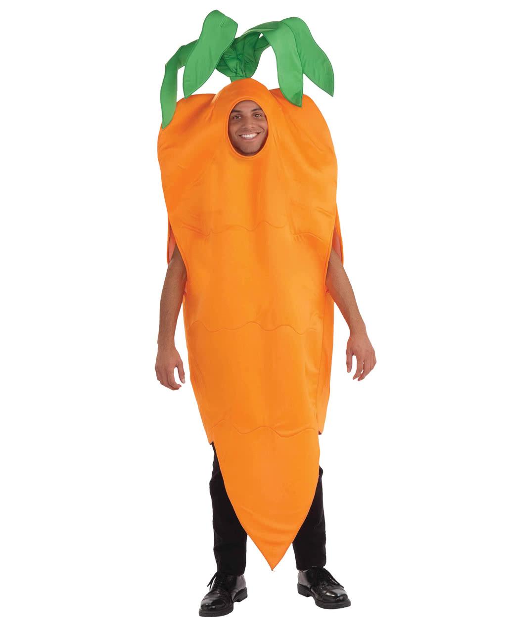Karotten Kostüm Unisex zum Faschingszug