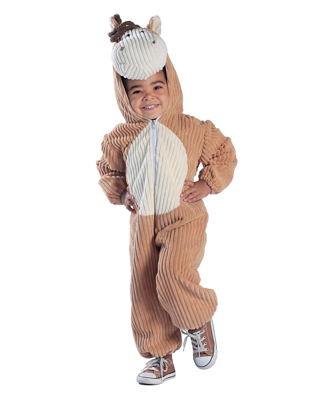 Pferd Kleinkinder Kostümanzug in Cord-Optik 4 Jahre