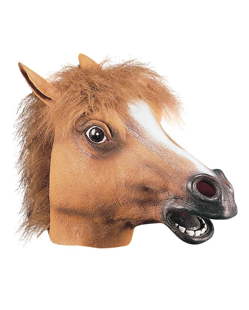 Pferde Maske aus Latex  Hengst Maske  Tiermaske