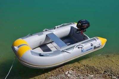 Schlauchboot VIAMARE 230 S Slat grau/gelb