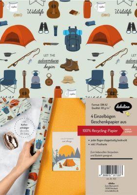Dabelino Geschenkpapier-Set: Reise und Camping